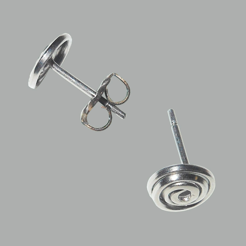 Titanium Earring Posts with safety groove